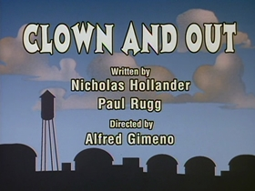 Screenshots from the 1993 Amblin Entertainment cartoon Clown and Out