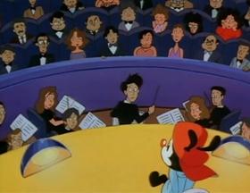 Screenshots from the 1993 Amblin Entertainment cartoon Potty Emergency