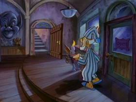 Screenshots from the 1993 Amblin Entertainment cartoon Toy Shop Terror