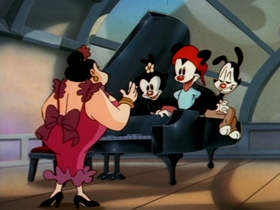 Screenshots from the 1993 Amblin Entertainment cartoon O Silly Mio