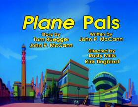 Screenshots from the 1993 Amblin Entertainment cartoon Plane Pals