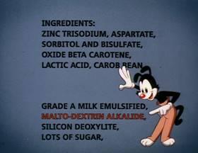 Screenshots from the 1993 Amblin Entertainment cartoon Be Careful What You Eat