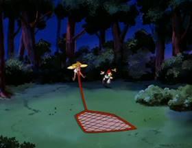 Screenshots from the 1993 Amblin Entertainment cartoon A Midsummer Night