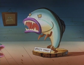 Screenshots from the 1994 Games Animation cartoon Bass Masters