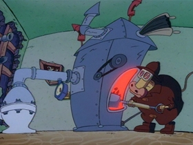 Screenshots from the 1994 Games Animation cartoon Pipe Dreams