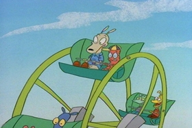 Screenshots from the 1994 Games Animation cartoon Tickled Pinky