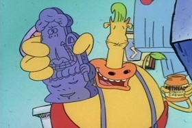 Screenshots from the 1994 Games Animation cartoon Down the Hatch