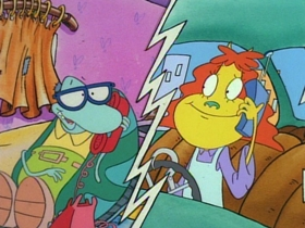 Screenshots from the 1994 Games Animation cartoon Rocko