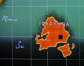 Screenshots from the 1994 Games Animation cartoon Lair of the Lummox