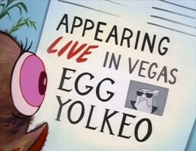 Screenshots from the 1994 Games Animation cartoon Egg Yölkeo