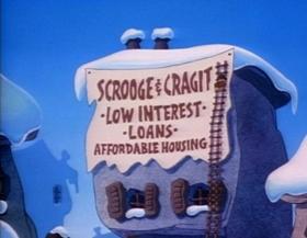 Screenshots from the 1994 Hanna-Barbera cartoon A Flintstones Christmas Carol
