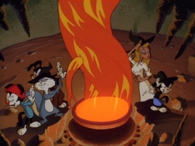 Screenshots from the 1994 Amblin Entertainment cartoon MacBeth