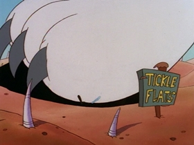 Screenshots from the 1995 Games Animation cartoon The Fat Lands