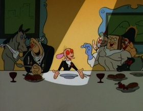 Screenshots from the 1995 Games Animation cartoon Dinner Party
