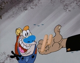 Screenshots from the 1995 Games Animation cartoon A Scooter for Yaksmas