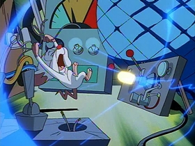 Screenshots from the 1995 Amblin Entertainment cartoon A Pinky and the Brain Christmas