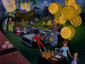 Screenshots from the 1995 Amblin Entertainment cartoon Candle Jack