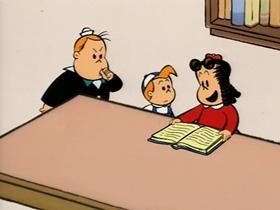 Screenshots from the 1995 CINAR cartoon Crybaby