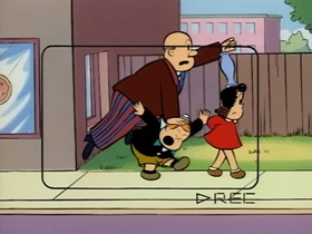 Screenshots from the 1995 CINAR cartoon Lulu