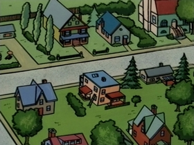 Screenshots from the 1995 CINAR cartoon The Case of the Egg in the Shoe