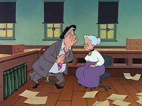 Screenshots from the 1995 Warner Brothers Television cartoon It Happened One Night Before Christmas