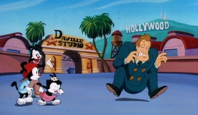 Screenshots from the 1995 Amblin Entertainment cartoon Variety Speak