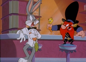 Screenshots from the 1995 Warner Brothers cartoon Carrotblanca