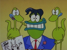 Screenshots from the 1996 Games Animation cartoon Ed Good, Rocko Bad