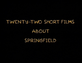 Screenshots from the 1996 Gracie Films cartoon 22 Short Films About Springfield