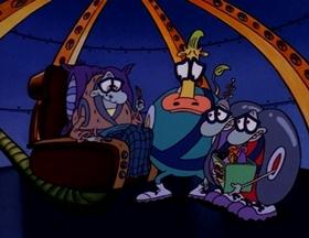 Screenshots from the 1996 Games Animation cartoon Future Schlock