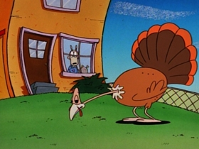 Screenshots from the 1996 Games Animation cartoon Turkey Time