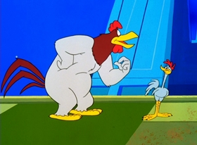 Screenshots from the 1996 Warner Brothers cartoon Superior Duck