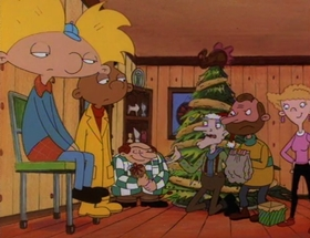 Screenshots from the 1996 Snee-Oosh cartoon Arnold