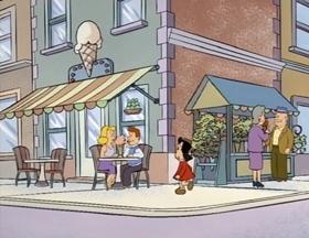 Screenshots from the 1996 CINAR cartoon Valentine