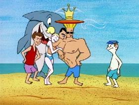 Screenshots from the 1997 Hanna-Barbera cartoon Beach Blanket Bravo