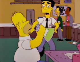 Screenshots from the 1997 Gracie Films cartoon Homer