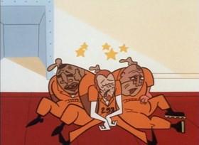 Screenshots from the 1998 Hanna-Barbera cartoon Powerpuff Bluff