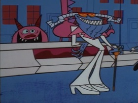 Screenshots from the 1998 Hanna-Barbera cartoon Boogie Frights
