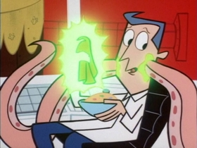 Screenshots from the 1999 Hanna-Barbera cartoon Paste Makes Waste