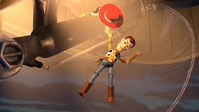 Screenshots from the 1999 Pixar cartoon Toy Story 2