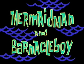 Screenshots from the 1999 United Plankton Pictures cartoon Mermaid Man and Barnacle Boy