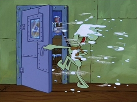 Screenshots from the 1999 United Plankton Pictures cartoon SB-129