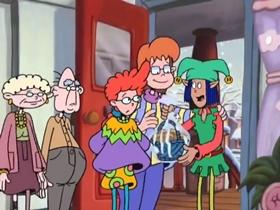Screenshots from the 1999 Disney Television Animation cartoon A Kosher Christmas