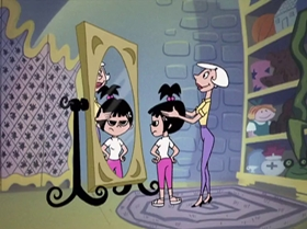 Screenshots from the 1999 Warner Brothers Television cartoon Little Miss Popular