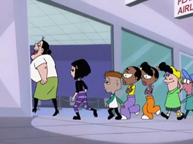 Screenshots from the 1999 Warner Brothers Television cartoon Capitol Punishment