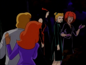 Screenshots from the 1999 Hanna-Barbera cartoon Scooby-Doo and the Witch