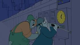 Screenshots from the 1999 Disney cartoon Rhapsody in Blue