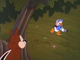 Screenshots from the 1999 Disney Television Animation cartoon Donald and the Big Nut