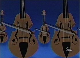 Screenshots from the 1999 Disney Television Animation cartoon Maestro Minnie : Flight of the Bumblebee
