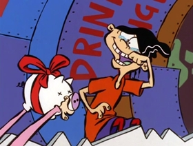Screenshots from the 2000 a.k.a. Cartoons cartoon Fa-La-La-La-Ed